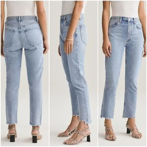 Agolde 29 Riley hi rise crop straight jeans NWT